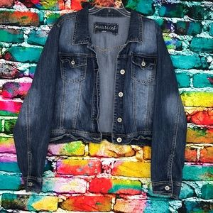 Maurice's Jeans Brand Blue Jean Jacket Button Down